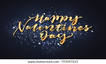 Happy Valentines Day Lettering card design #793947625