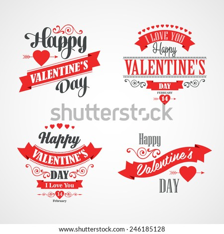 happy valentines day lettering
