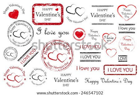 happy valentines day stamps