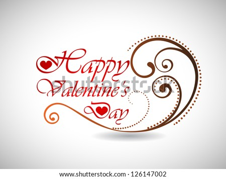 Happy Valentines Day text in floral pattern on grey background.