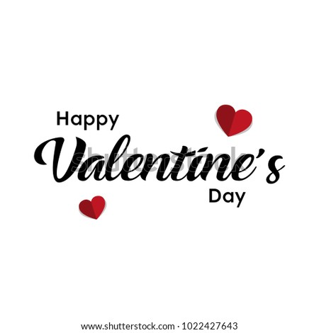 Happy Valentines Day typography poster with handwritten calligraphy text, Vector Illustration #1022427643