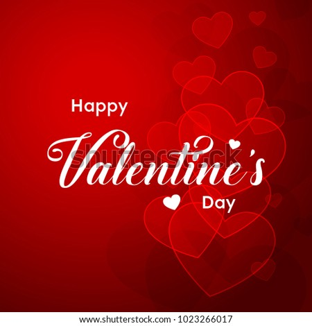 Happy Valentines Day typography poster with handwritten calligraphy text, Vector Illustration #1023266017