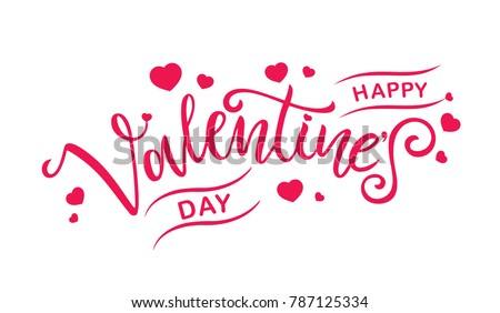 happy valentines day typography vector design for greeting cards and poster valentines day text on