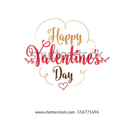 happy valentines day typography vector text design usable for banners greeting cards