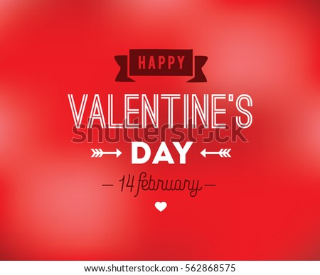 Happy Valentines day typography. Vector text design. Usable for banners, greeting cards, gifts etc. 14 february  #562868575