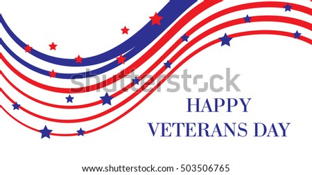 Happy Veterans Day. American Flag, Happy Veterans Day greeting card. U.S.A flag. Vector illustration