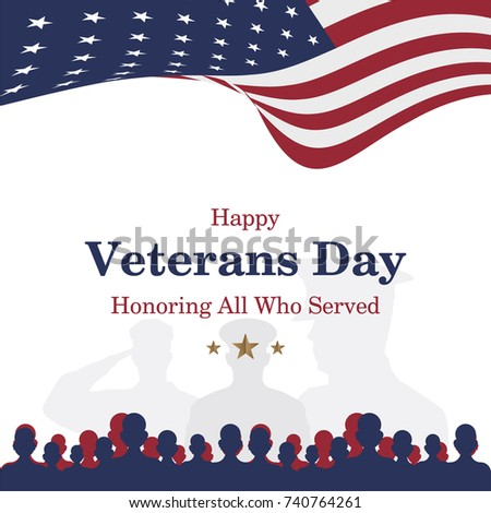 Happy memorial day celebration download free vector art stock happy veterans day greeting card with usa flag and soldier on background national american m4hsunfo