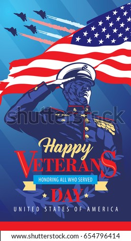 happy veterans day poster the