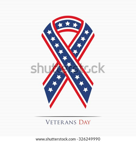 happy veterans day ribbon for