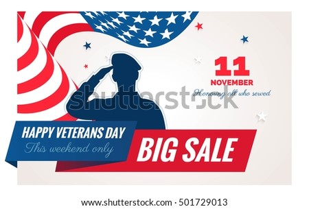 happy veterans day sale banner