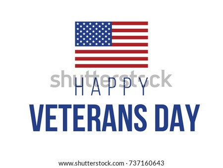 happy veterans day vector