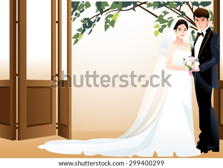 happy wedding photo   cute girl