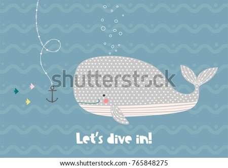 happy whale in the ocean