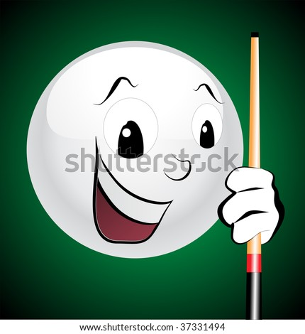 Happy white ball laughing vector - stock vector