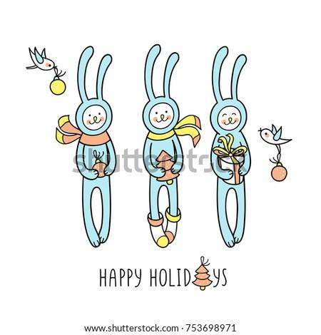 happy winter holidays hand