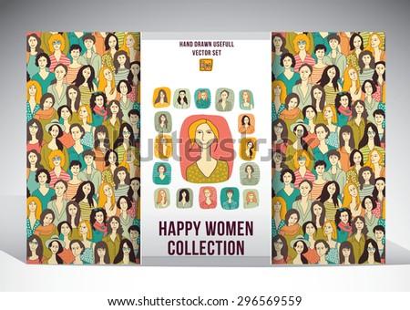 happy woman collection set set
