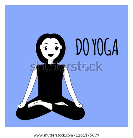 happy woman doing yoga sport
