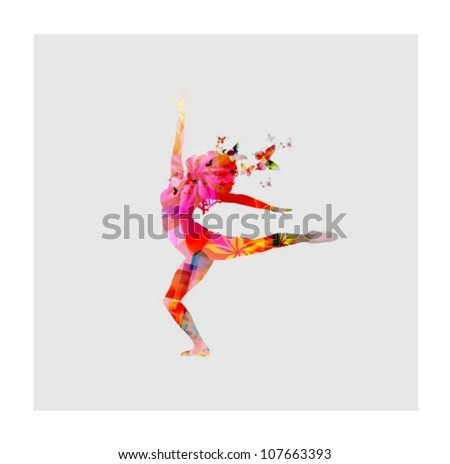 Happy women dancing - stock vector