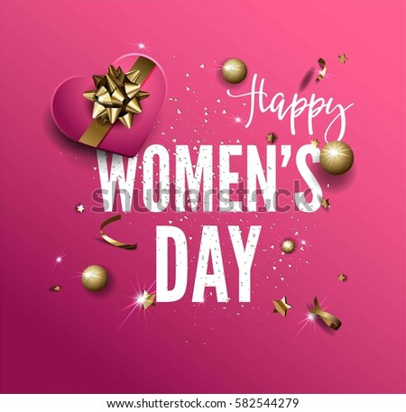 happy women day greeting card