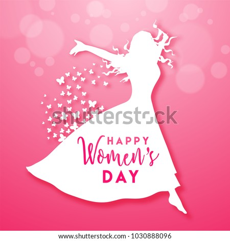 Happy Women's Day celebration design.