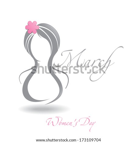 Happy Women's Day, March 8. Vector Illustration. Eps 10. - stock vector