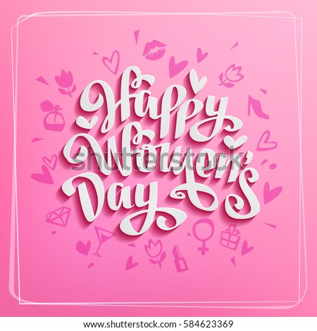 happy women's day vector card