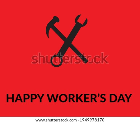 Happy Worker's Day in Adobe Illustrator CC