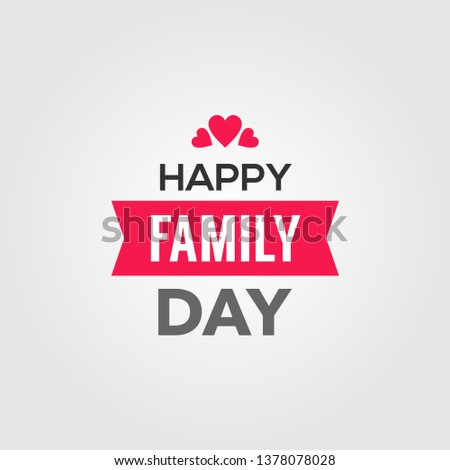 Happy World Family Day Vector Design Template #1378078028