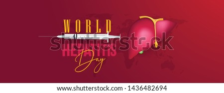 Happy world hepatitis day template use for card vector design #1436482694