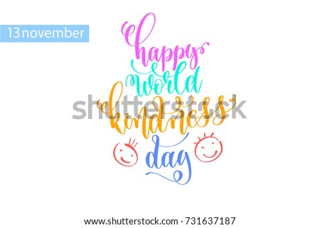happy world kindness day hand