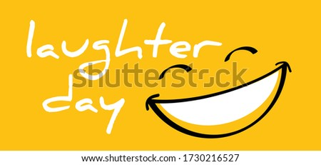 Happy world laughter day, smiling National big happiness Fun thoughts emoji face emotion smiley Smile lip symbol Smiling lips, mouth,  tongue Funny teeth Vector laugh cartoon pattern Lol laughing haha