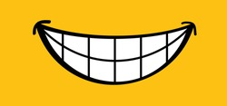 Happy world smile day, smiling National big happiness Fun thoughts emoji face emotion smiley Laughter lip symbol Smiling lips, mouth,  tongue Funny teeth Vector laugh cartoon Lol laughing haha Toothy