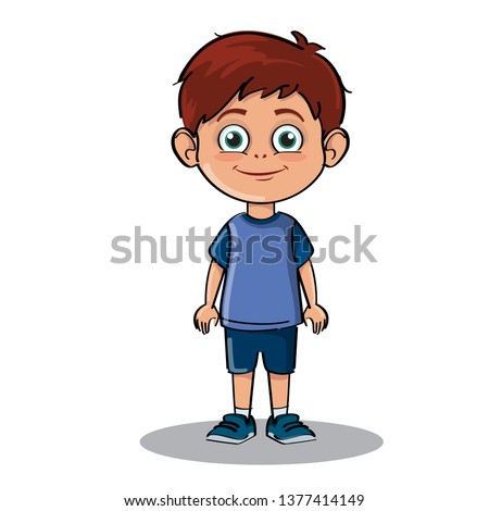happy young boy standing