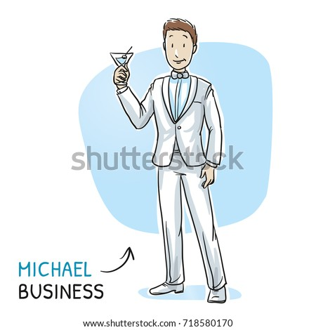 happy young business man in a