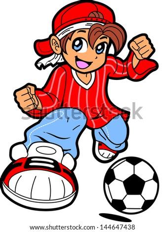 happy young man boy soccer