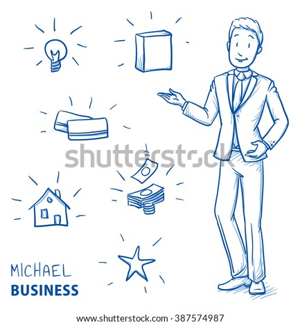 happy young man in business