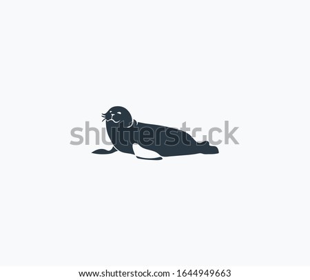 harbor seal icon isolated on
