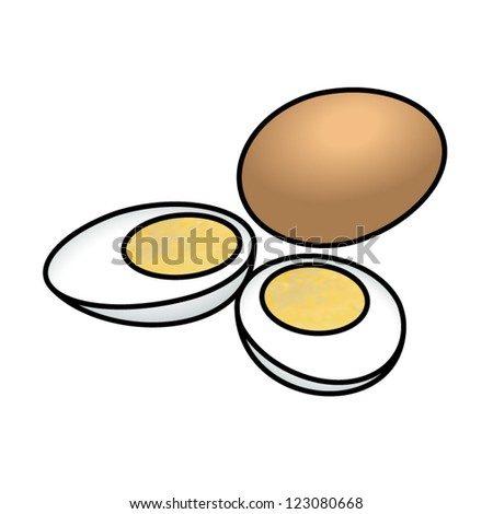 hard boiled brown eggs with