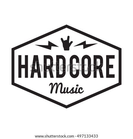 hard core music badge label