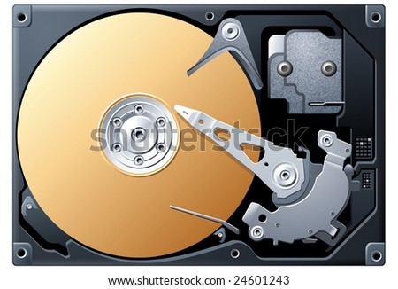 Hard Disk - stock vector