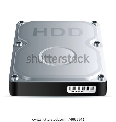 hard disk drive  hdd   vector