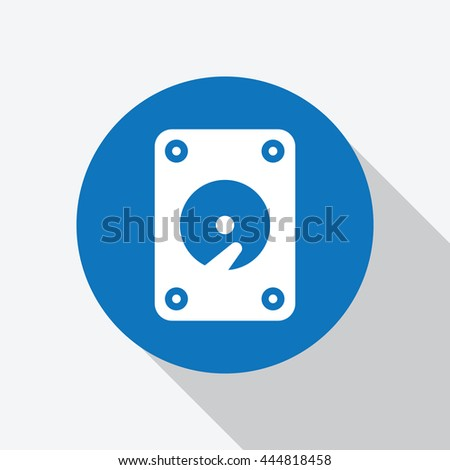 hard disk icon vector