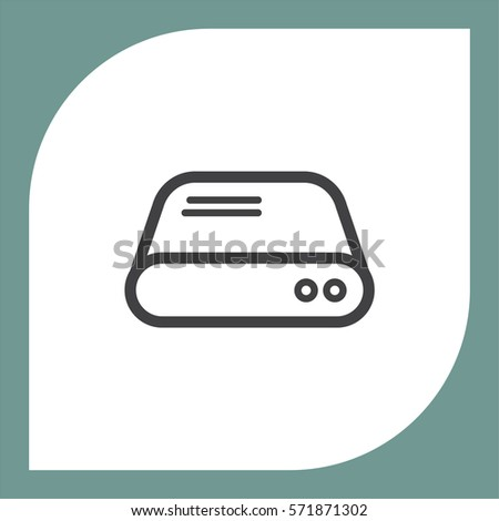 hard disk line vector icon hdd