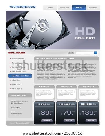 Hard Disk Sale promotional brochure