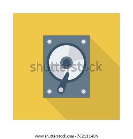 hard disk square flat