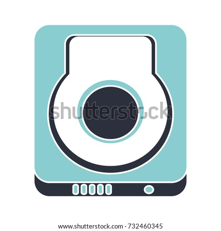 hard drive flat icon