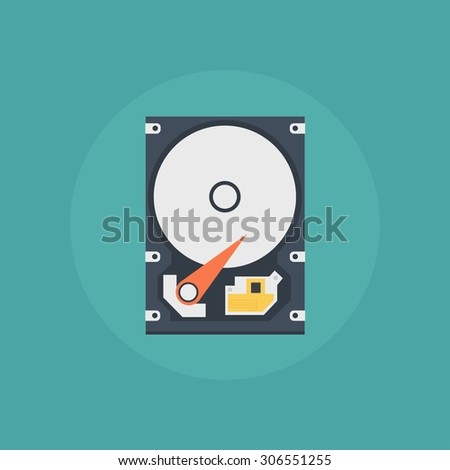 hard drive vector icon in a