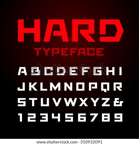 hard font vector alphabet with