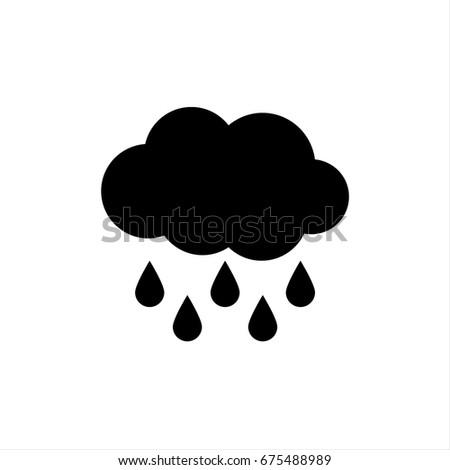 Hard Rain icon in trendy flat style isolated on background. Hard Rain icon page symbol for your web site design Hard Rain icon logo, app, UI. Hard Rain icon Vector illustration, EPS10.