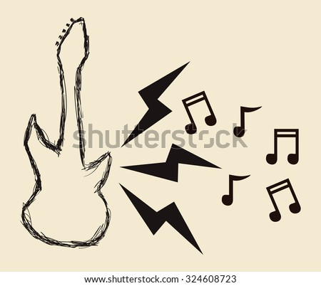 Hard Rock design with music icon design, vector illustration 10 eps graphic.